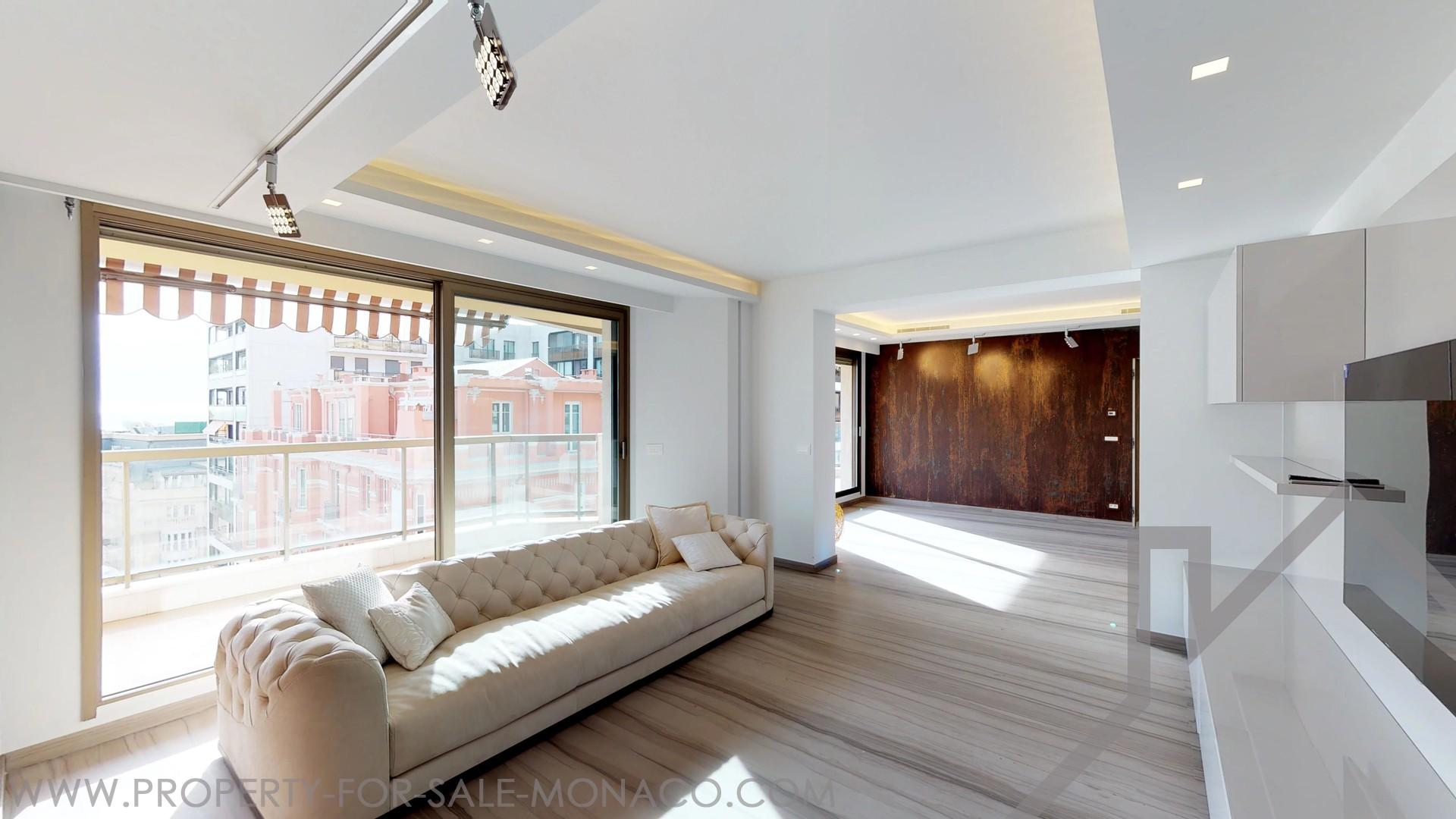 magnifique appartement meubl propri t s vendre monaco. Black Bedroom Furniture Sets. Home Design Ideas